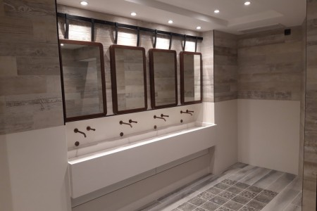 Centre Public Toilets, Clarks Outlet Village, Flooring & Wall Tiling, Sink, Mirrors