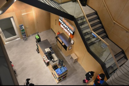 Recently completed - Ellis Brigham Mountain Sports.  The family owned and run, high performance authentic outdoor brands store has recently opened a 9000 sq ft store at the new open-air shopping and leisure development Bond Street, situated in the heart of Chelmsford City Centre. Staircase