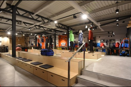 Recently completed - Ellis Brigham Mountain Sports.  The family owned and run, high performance authentic outdoor brands store has recently opened a 9000 sq ft store at the new open-air shopping and leisure development Bond Street, situated in the heart of Chelmsford City Centre. Bespoke Joinery