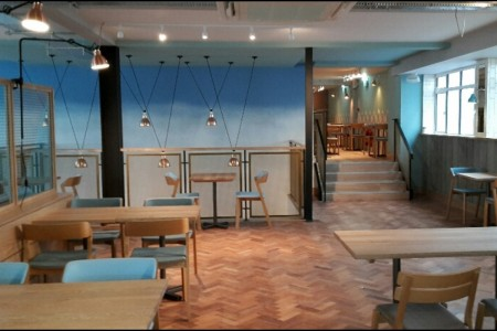 Another recently completed Wildwood Restaurant in Bournemouth, Flooring & Lighting