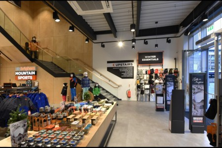 Recently completed - Ellis Brigham Mountain Sports.  The family owned and run, high performance authentic outdoor brands store has recently opened a 9000 sq ft store at the new open-air shopping and leisure development Bond Street, situated in the heart of Chelmsford City Centre. Interior, Staircase