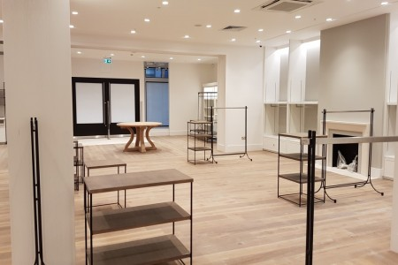 Recently completed - The White Company in Bluewater Shopping Centre, Kent. Interior