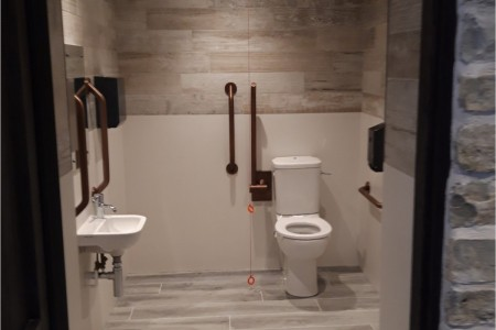 Centre Public Toilets, Clarks Outlet Village, Flooring & Wall Tiling, Sink, Mirrors, Disabled Toilet