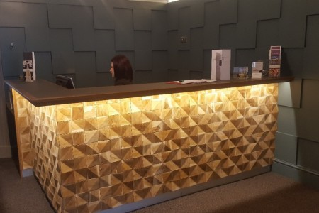 Chequers Hotel Newbury, Refurbishment, High-end, Bespoke Joinery, Feature Bar Bar Cladding