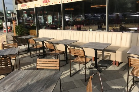 Our first project for the Richoux group saw us transforming the former restaurant into a new concept American Diner. Outside Seating Area