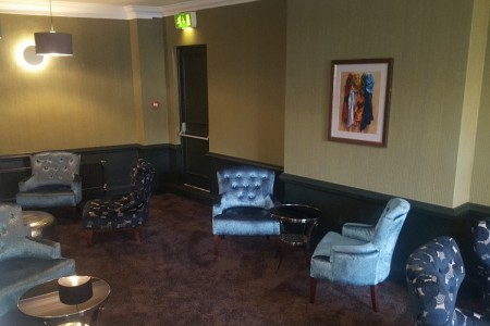 Chequers Hotel Newbury, Refurbishment, High-end, Bespoke Joinery, Lounge Area