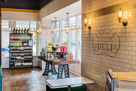Situated in the centre of the Freeport Designer Outlet Village this landlords shell needed complete refurbishment to both floors, featuring a new design including an entrance deli area and external decking for 'Al Fresco' dining.