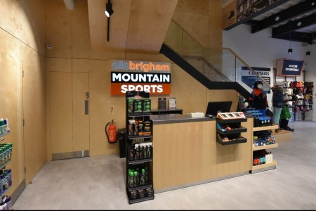 Recently completed - Ellis Brigham Mountain Sports.  The family owned and run, high performance authentic outdoor brands store has recently opened a 9000 sq ft store at the new open-air shopping and leisure development Bond Street, situated in the heart of Chelmsford City Centre. Till, Counter