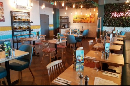 Prezzo have opened a fresh new look restaurant on Central Walk, Weston Super Mare, Interior, Seating, Joinery, Lighting