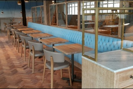 Another recently completed Wildwood Restaurant in Bournemouth, Seating