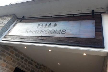 Centre Public Toilets, Clarks Outlet Village, Flooring, Signage