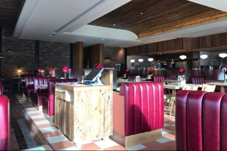 Our first project for the Richoux group saw us transforming the former restaurant into a new concept American Diner. Interior Seating, Bar, Joinery