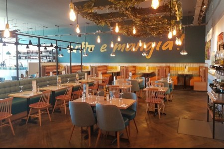 Prezzo have opened a fresh new look restaurant on Central Walk, Weston Super Mare, Lighting Feature
